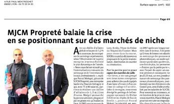 MJCM Propreté balaie la crise en se positionnant sur des marchés de niche - Le Progrés 21 mai 2013